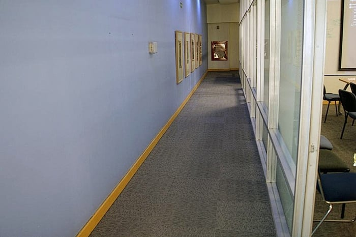 Aficina con alfombra modular